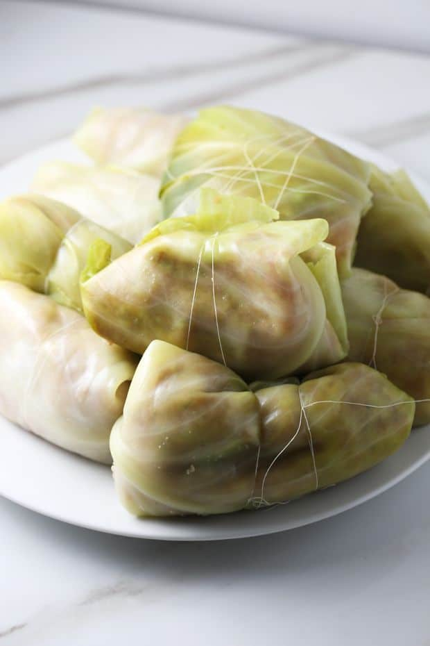 stuffed cabbage rolls ready to cook