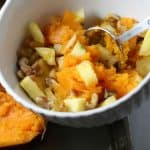 Pineapple walnut baked sweet potato stuffing