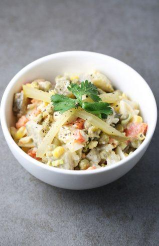 Best ever olivier salad