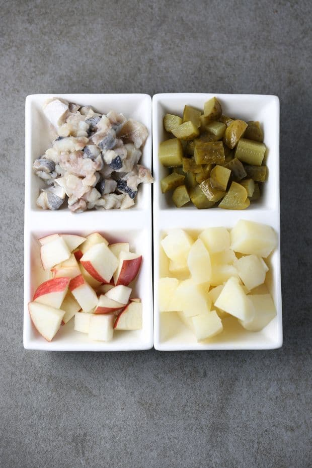Easy Herring Salad ingredients