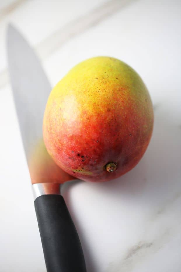 How to cut a mango with a knife easy way