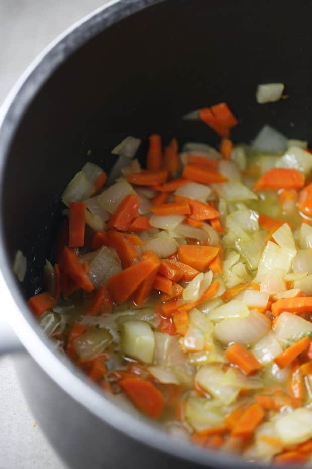 Cooking carrots and onions - 6 quart pot