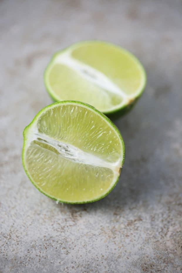 Fresh Lime cut in half