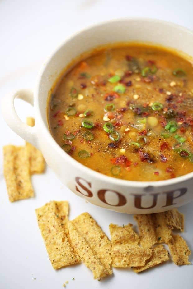 Vegetarian lentil soup