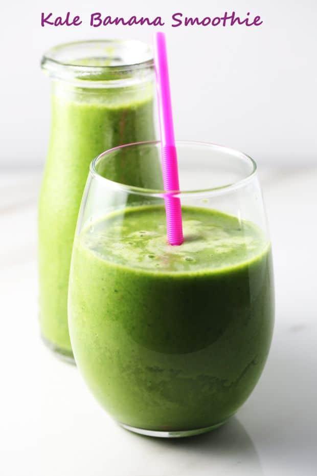 Kale banana smoothie