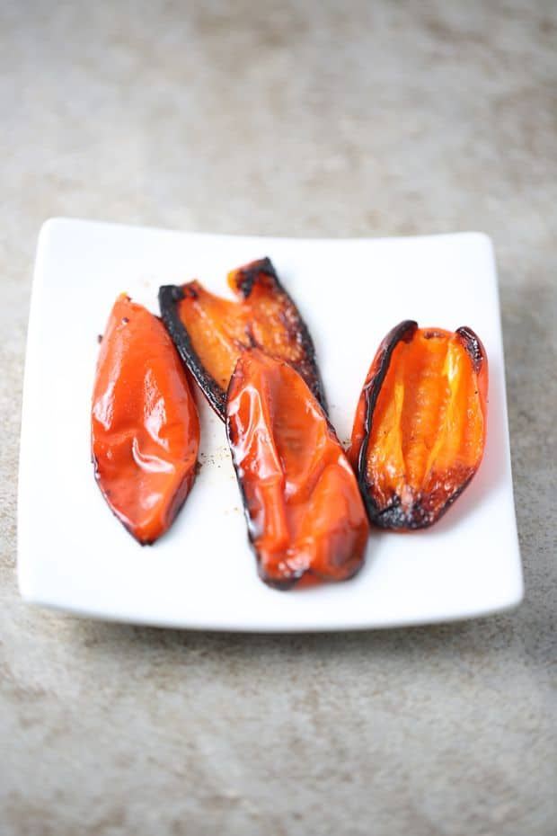 Pan roasted mini peppers
