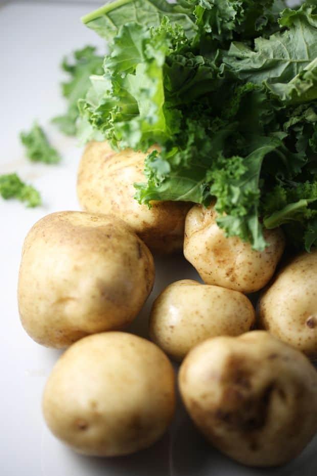 kale potato pancakes ingredients