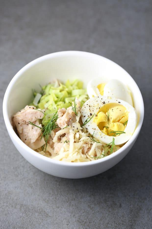 Healthy Tuna Salad Recipe with Egg ingredients