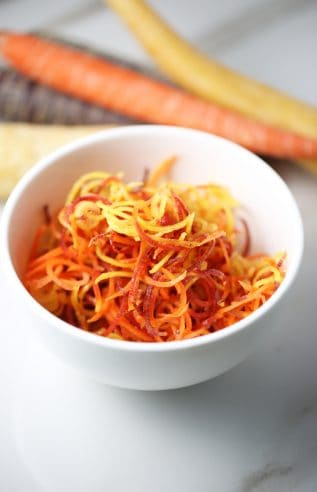 Healthy Multi-colored Carrot salad