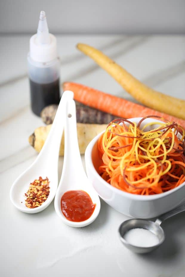 Healthy Multi-colored Carrot salad dressing