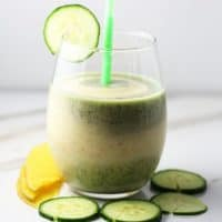 Cucumber mango smoothie