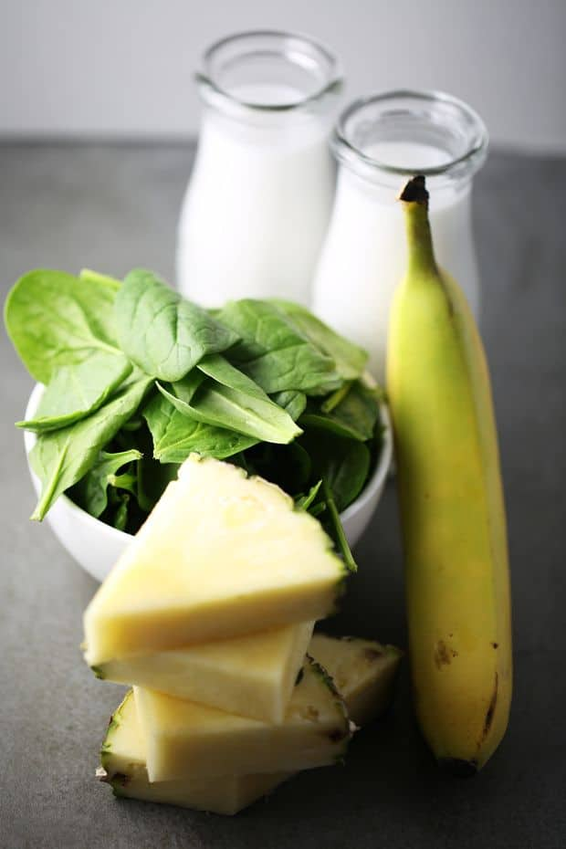 Spinach Pineapple Banana Smoothie Ingredients