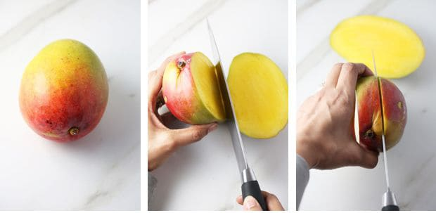 How to cut a mango with a knife instructions part one