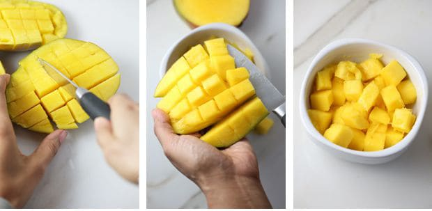 How to cut a mango with a knife instructions part two