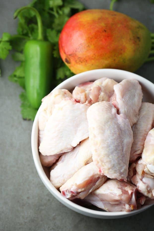 Spicy mango chicken wings ingredients