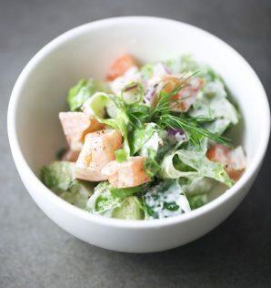 lettuce tomato cucumber salad
