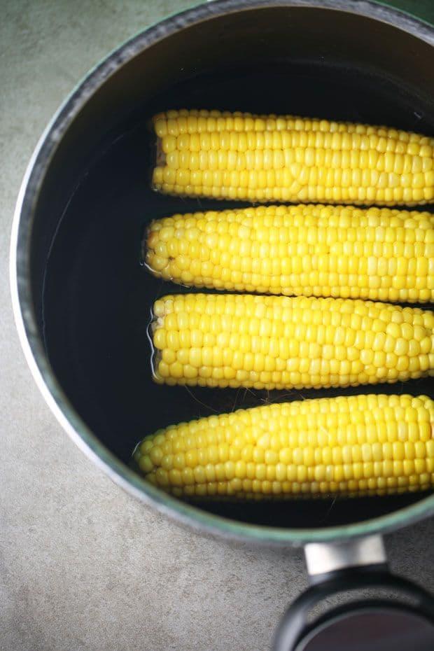 Corn apple salad boil corn