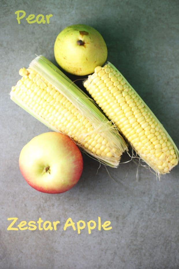 Corn apple salad ingredients