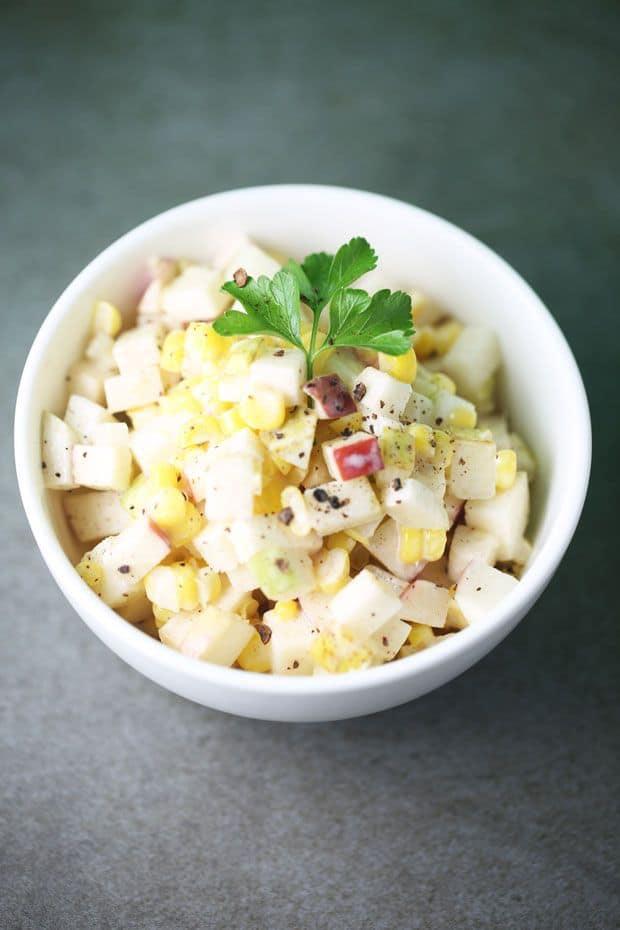 Corn apple salad