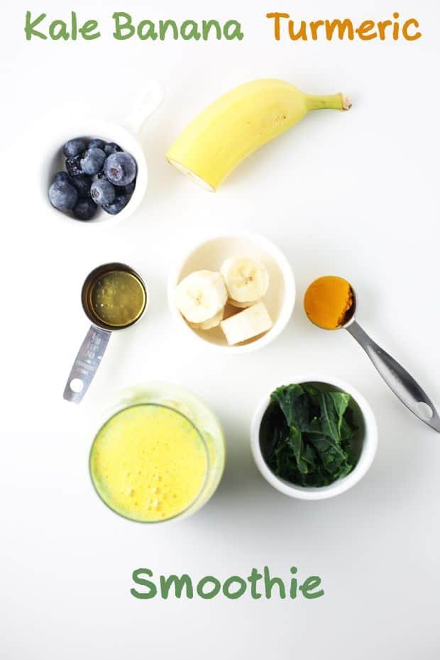Kale Banana Turmeric Smoothie ingredients
