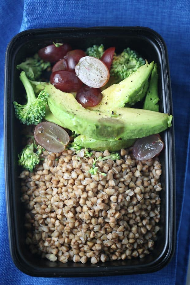 Vegan-friendly grain bowl for lunch