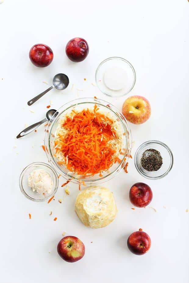 Shredding Carrots into the ball
