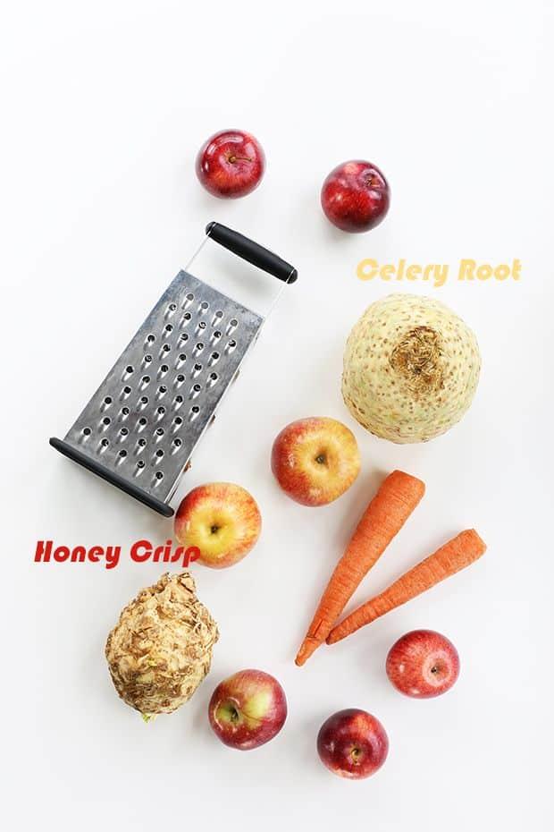 celery root carrot apple salad ingredients